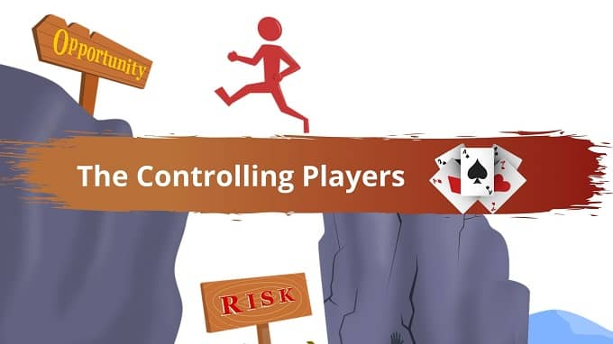 In the Poker Personality test, who are the controlling players?