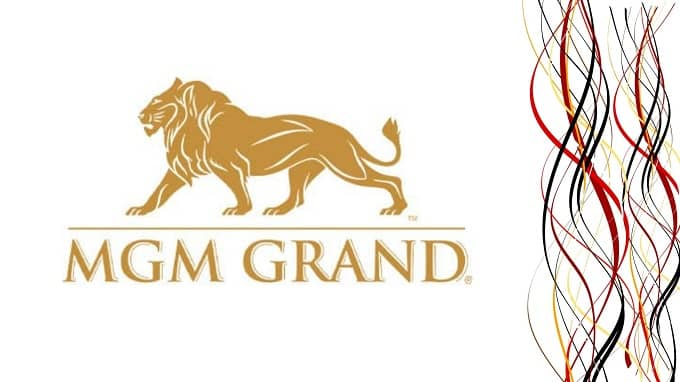What is the symbolism of the MGM Grand casino logo?