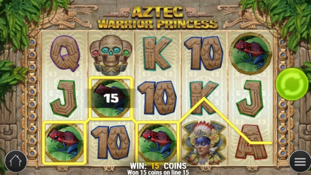 What are the features of an Aztec warrior slot?